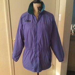 Columbia Purple Anorak Coat Size S